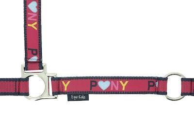 "Equi-Kids Equi Kids ""Ponylove"" Nylon Head Collar + Lead Rope Set"
