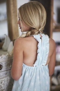 Razor Back Dress - Blue Haze