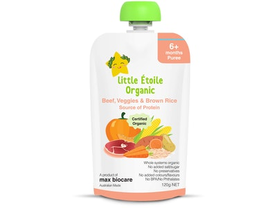 Max Biocare Little Etoile Organic - Beef, Veggies and Brown Rice