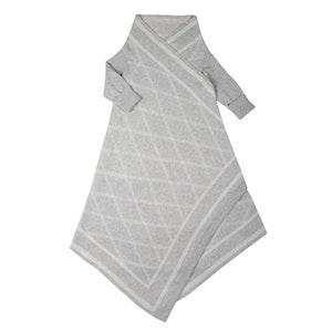 Jujo Baby Criss Cross pattern Shwrap™  - Silver/ecru