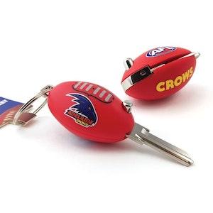 Creative Keys AFL Footy Flip Key Blank with Keyring LW4 – Adelaide Crows