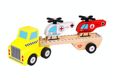 Tooky Toy HELICOPTER & CARRIER