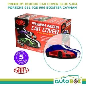 SAAS INDOOR SHOW CAR COVER PORSCHE 911 928 996 BOXTER CAYMAN fits 5.0m BLUE LARGE