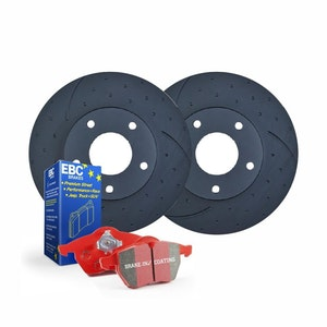 DIMPLED SLOTTED REAR BRAKE ROTORS + PADS for BMW X5 F15 M50d 3.0TTD 10/2013-2018