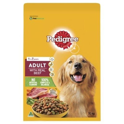 Pedigree Adult with Real Beef 20kg