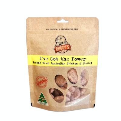 Bugsy's Pet Supplies FUNCTIONAL TREATS | I've Got The Power (Freeze Dried Australian Chicken & Ginseng)