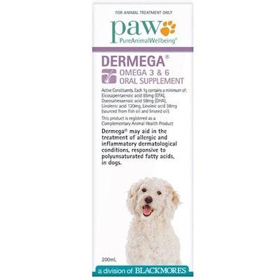 Paw Dermega Dogs Omega 3 & 6 Oral Supplement Treatment 200ml