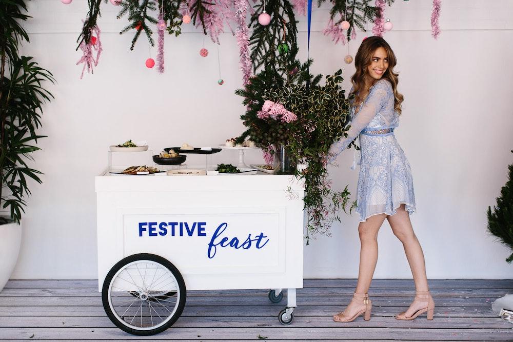 LENZO Christmas Editorial Dann Event Hire Cart