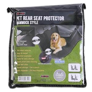 Nonslip Rear Car Pet Seat Protector | Black
