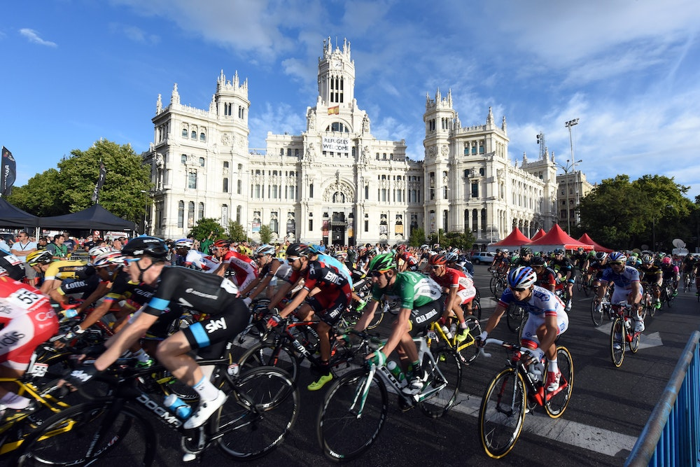 Peloton final stage vuelta 2015