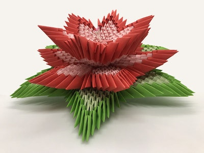 Origami World Lotus Flower – 3d Origami Lotus Flower – for Home Decoration, Table Centrepiece, Birthday, Wedding