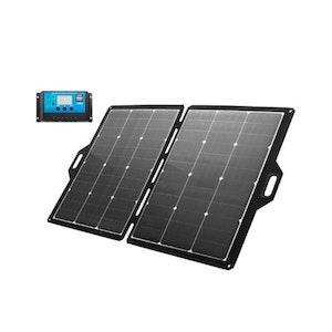 160W 12V Folding Solar Panel Atem Power Charging Kit