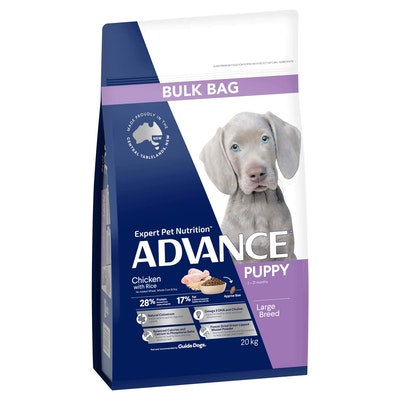 Advance Large Breed Puppy Chicken with Rice Dry Dog Food 20kg