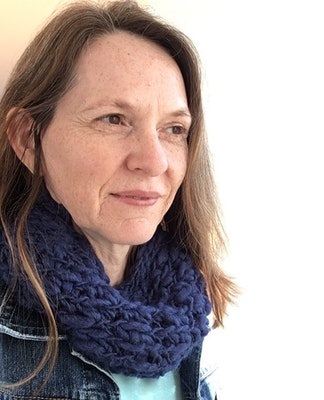 by G  by JoVe Chunky Cowl Scarf - pure wool - navy blue or natural fawn