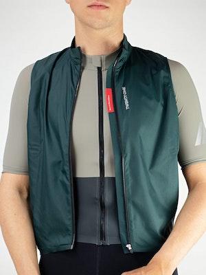 Twenty One Cycling Factory Wind Vest - DarkGreen - Men