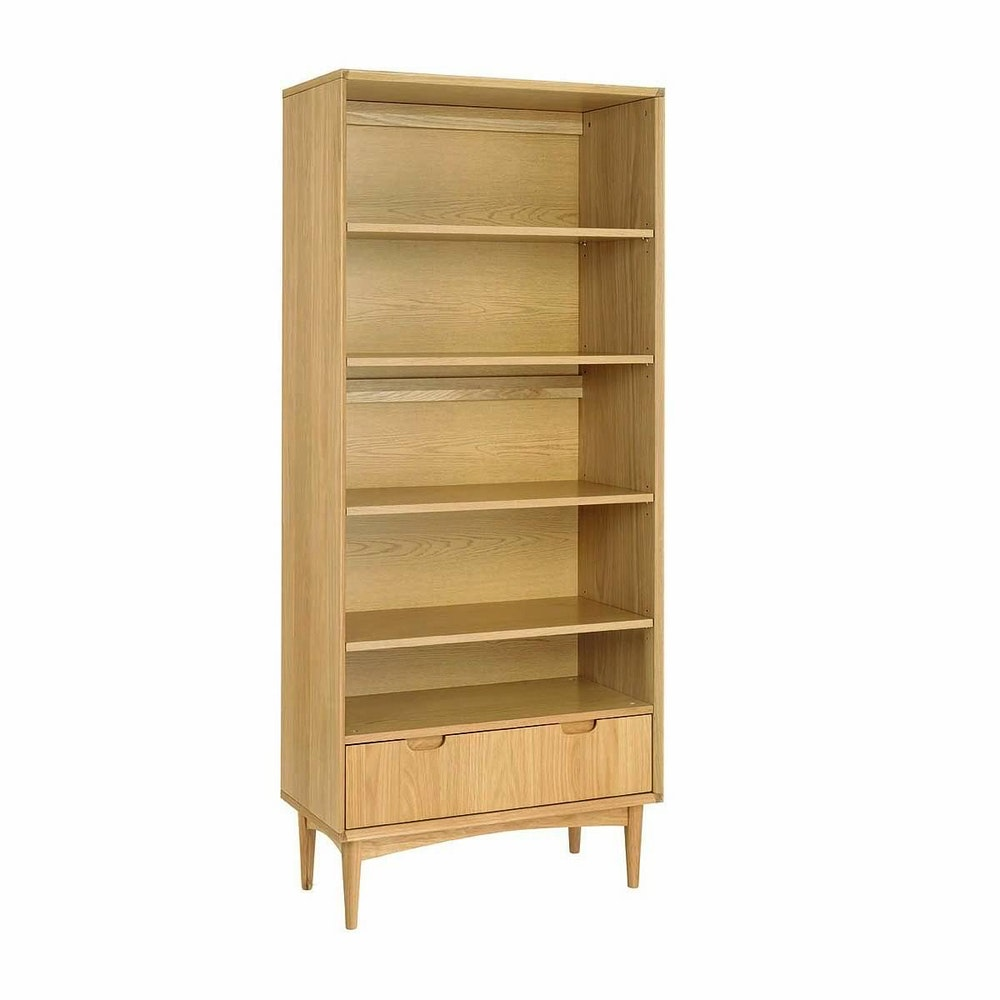 Stockholm Wide Bookshelf Oak Office Bookcases For Sale