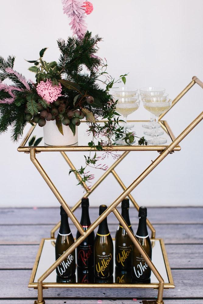 LENZO Christmas Small Things Co Bar Cart