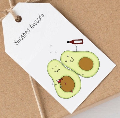 SOUL Self Care  Pleasant Tree Designer Gift Tags - SMASHED AVOCADO 2021
