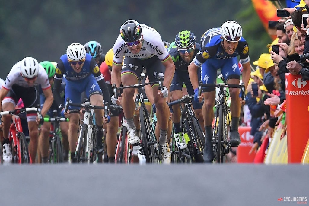Sagan Swaps Rainbow Stripes for Yellow Jersey with Stage 2 Victory