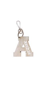 Personalised Wooden Bag Tag - Plain Font