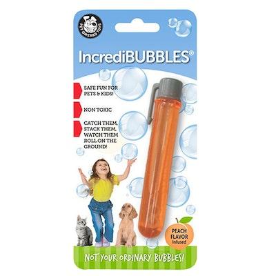 Pet Qwerks Incredibubbles Infused Bubbles Dog Toy Peach Flavour