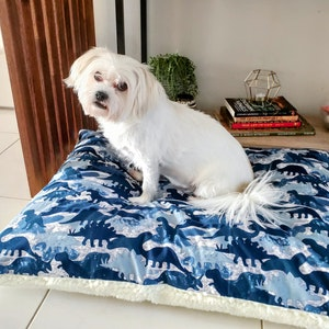 Queenie's Pawprints Eco Pet Bed/Cushion - Perfect Snooze | Jurassic Park