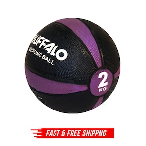 2kg Rubber Medicine Ball Weight Gym Sports Home Workout Lifting Exercise Weights