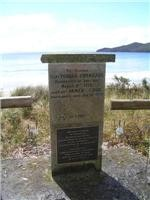Memorial to Furneax and Cook at Adventure Bay