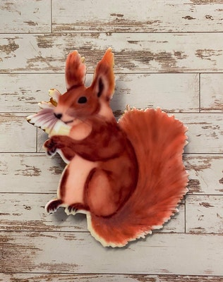 Totally Inspired Creations Sammy the Squirrel Brooch