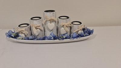 Fatima Rasoli Blue Candle Set