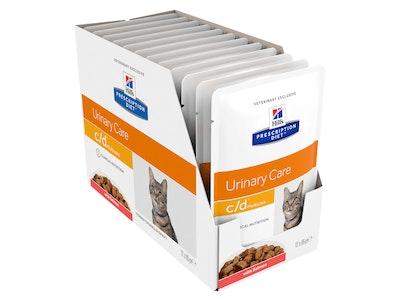 Hill's Prescription Diet Cat c/d Urinary Care Multicare Salmon 12 x 85g