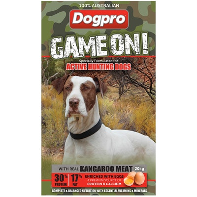 Dogpro Game on Active Hunting Dogs Food High Protein 20kg