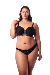 OBSESSION JET BLACK CONTOUR NURSING BRA - FLEXI UNDERWIRE