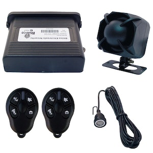 RhinoCo Technology Car Alarm and Upgrade in One Including 3 Point Engine Immobiliser and Glass Break Sensor