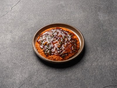 Muhamarra, pumpkin seed & pomegranate dressing