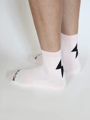 No Gods No Masters Power-Up Summer Socks - Powder Pink