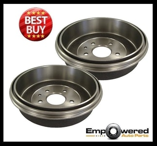 REAR BRAKE DRUMS with WARRANTY PAIR for Volkswagen Caravelle T2 10/1985-1992