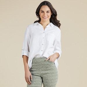 Gordon Smith Classic Linen Shirt - white