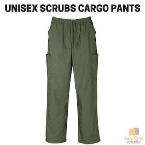 Boutique Medical Unisex Classic SCRUBS CARGO PANTS Medical Nursing Vet Uniform Dental H10610 New