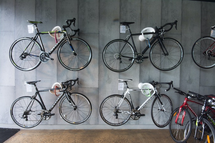 Cycles Galleria Bike Wall