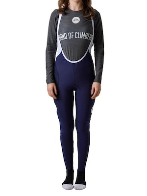 Band of Climbers Women's Icon Thermal Bib Tights - Navy/White