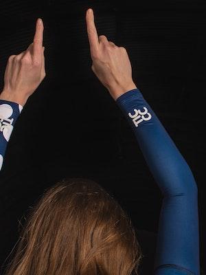 TIC CC Arm warmers dots Midnight blue