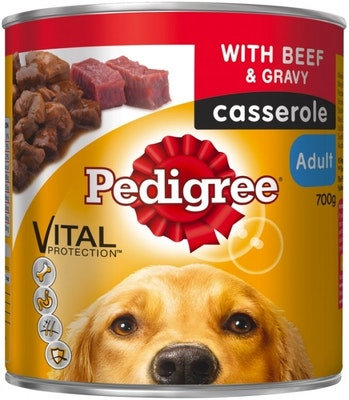 Pedigree Vital Adult Dog Food Beef & Gravy Casserole 700g x 12