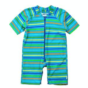 i play. One-piece Swim Sunsuit-Blue Multistripe