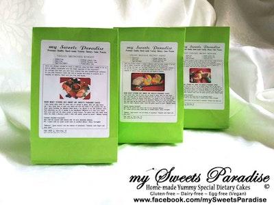 my Sweets Paradise Vegan Cake Premixes Value Set   Brownies Knight, Banana Brown Army, Caramel Almond Brown Princess