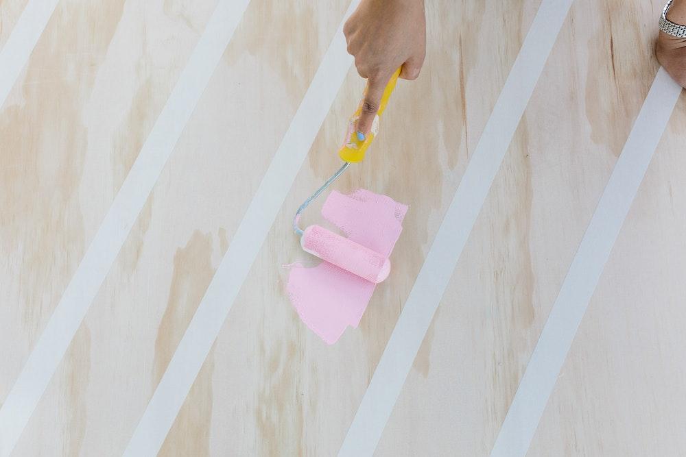 LENZO Haymes Painted Wedding Backdrop