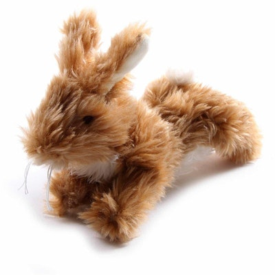 Masterpet Cuddles Squeaky Plush Rabbit Dog Toy Brown