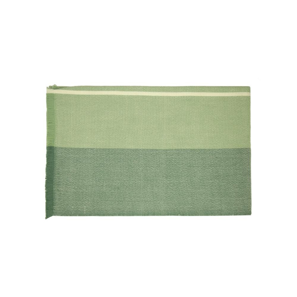 Birdie Fortescue Carinthia Wool Throw - Green/green