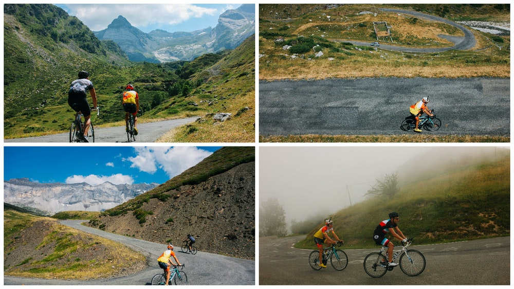 HC Bike Tours riding through Pyrenees