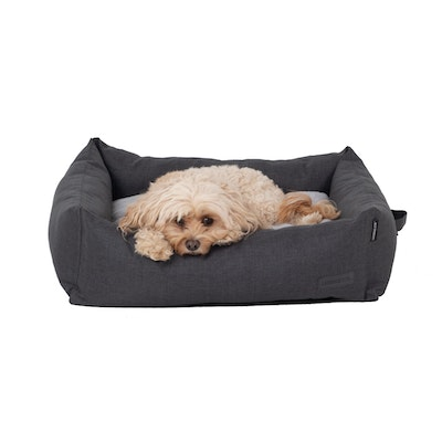 La Doggie Vita NEW!! Water Resistant Oxford Bolster Charcoal Bed